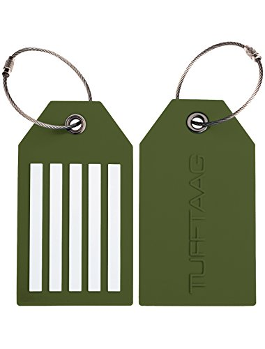 Duffel Delsey Lightweight - TUFFTAAG Personalized Luggage Tag Set - Customized PVC Suitcase Labels (2pk)