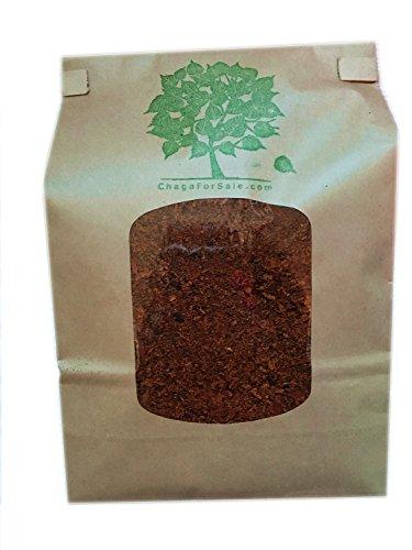 Chaga Ground 8 oz Premium Chaga Mushroom Tea by Chaga Pure and Simple Wild Harvested Candian - To Usps Ship Canada