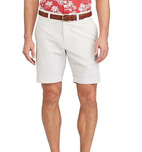 Big Bill Khaki (Chaps Men's Straight-Fit Seersucker Stripe Shorts (Hampton Khaki, 42))