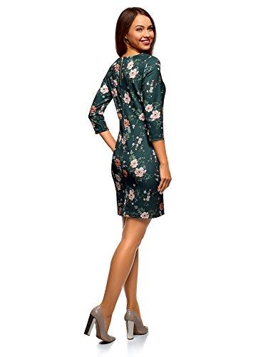 Verde con Ultra oodji 6954f Aderente Donna Zip Abito Tnvaz