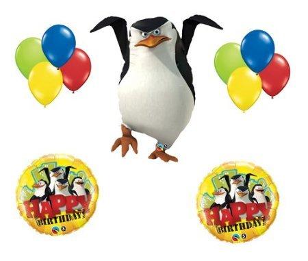 (Madagascar 3 Penguins Skipper Happy Birthday Party Balloon Set Bouqet Decor)