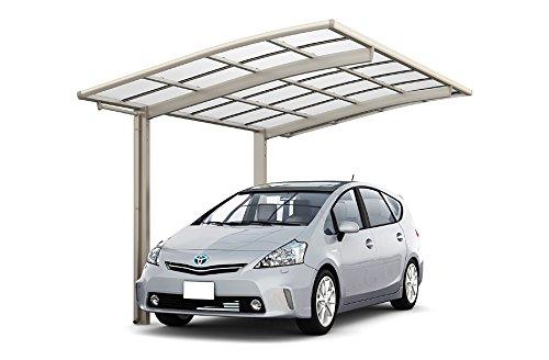 LIXIL ネスカ R レギュラー 基本24-57型 W2400×L5686 ロング柱H28 熱線遮断FRP板DRタイプ屋根材 ホワイト(アイボリーホワイト)  ホワイト(アイボリーホワイト) B07FKKCVT9