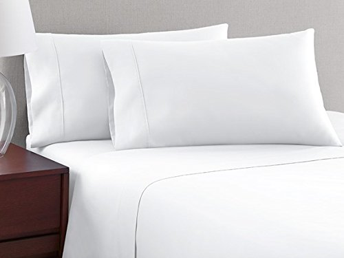 #1 Best Selling on Amazon 4pc Sheet Set 1000 Thread Count King Size 100% Egyptian Cotton White Solid By SDS Collections