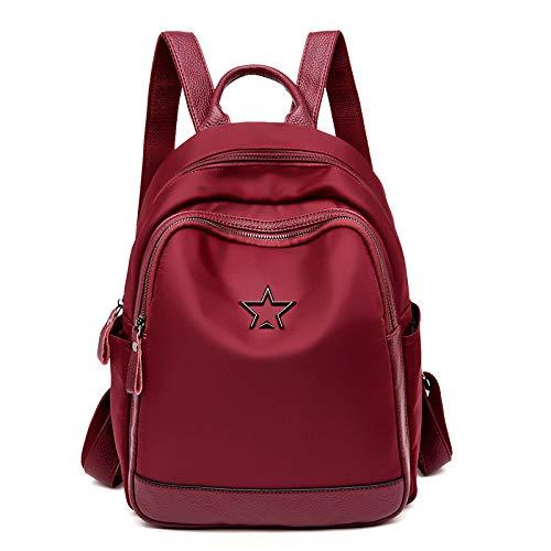 QWKZH Nylon Rucksack Damentasche Studententasche Korean Youth Leisure Travel Backpack