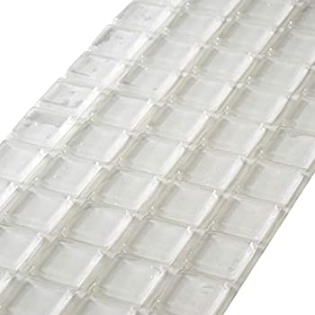 Rok Hardware 20 Pack Of Large Clear Square Self Adhesive