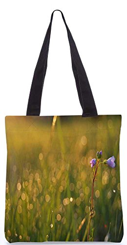 """Snoogg Gelbe Sonnenblumen Tragetasche 13,5 X 15 In """"Shopping-Dienstprogramm Tragetasche Aus Polyester Canvas"""