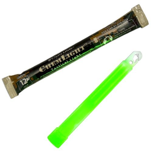 Cyalume ChemLight Military Grade Chemical Light Sticks, Green, 6 Long, 12 Hour Duration (Pack of 10) Athletics, Exercise, Workout, Sport, Fitness