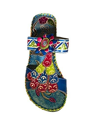 Corkys Elit Kvinna Navajo Öppen Tå Sandaler Blå