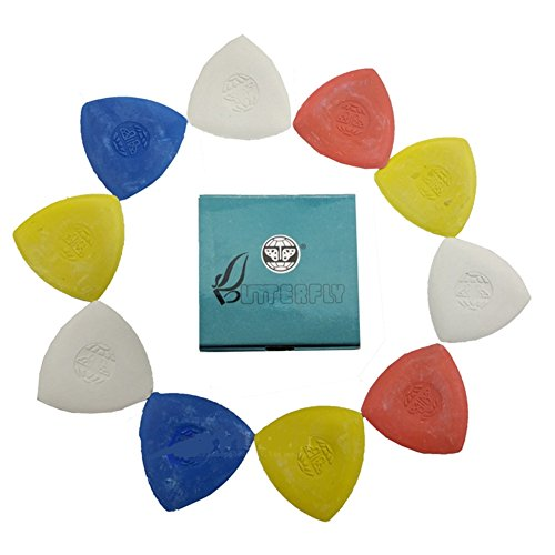 Chaco Liner (10 Pieces Pack Triangle Tailor's Chalk Sewing Quilting Notions WHITE/YELLOW/RED/BLUE)