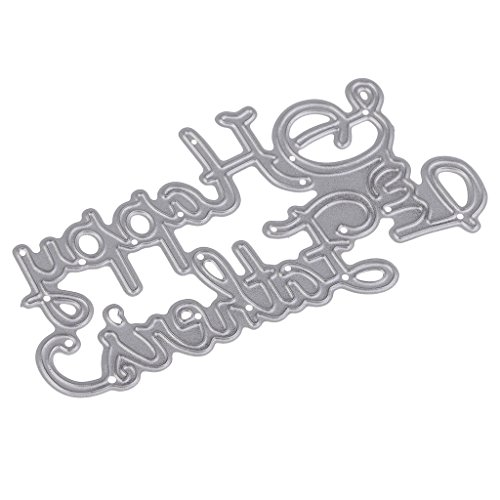MagiDeal Carbon Steel Die-Cutting Cutting Template Happy Father's Day Embossing Stencil DIY Scrapbooks Album Paper Card Father's Day Gift ()