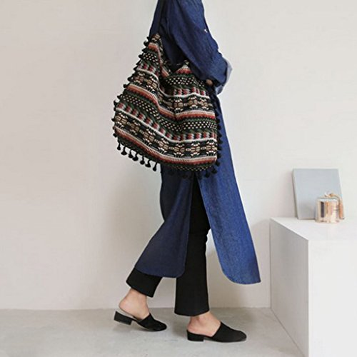 Tote Shoulder Bag Purse Tassel Numkuda Women Hobo Fringe Messenger Handbag Bags Shopping ngfwg6Yq