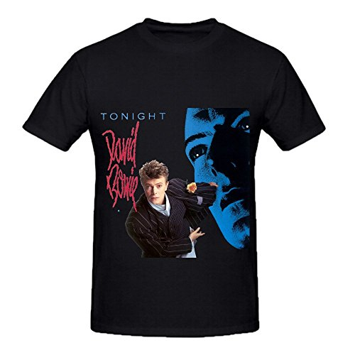 Price comparison product image David Bowie Tonight Hits Men Crew Neck Funny Shirts Black