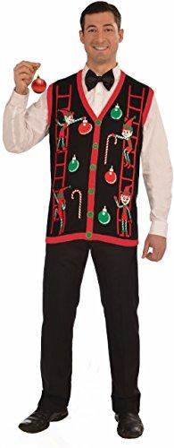 - Forum Novelties Men's Decorating Elves Christmas Vest, Multi, Large