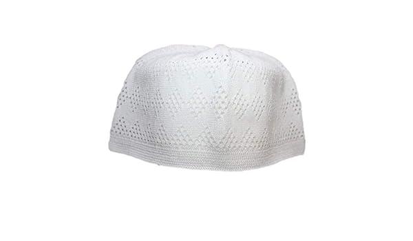 9b9c34dfd08 White One-Size Turkish Muslim Islamic Kufi Hat Taqiya Takke Peci Skull Cap   Amazon.ca  Clothing   Accessories