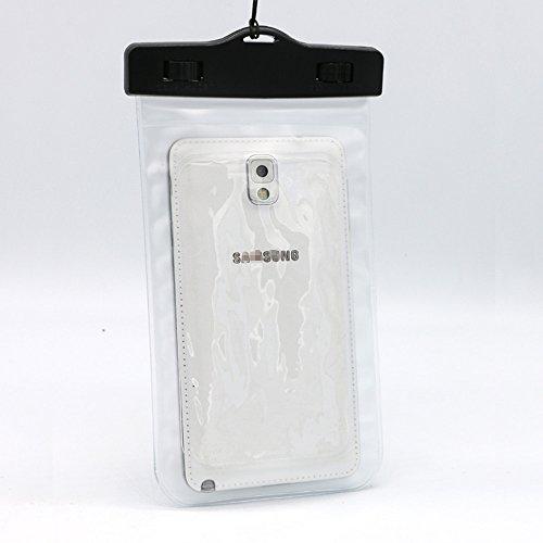 Custodia impermeabile subacquea-Custodia a sacchetto per cellulare, iPhone e Samsung, colore: trasparente