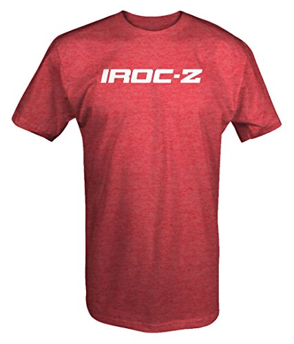 M22 Chevy IROC-Z Camaro Emblem T Shirt - Large Heather Red