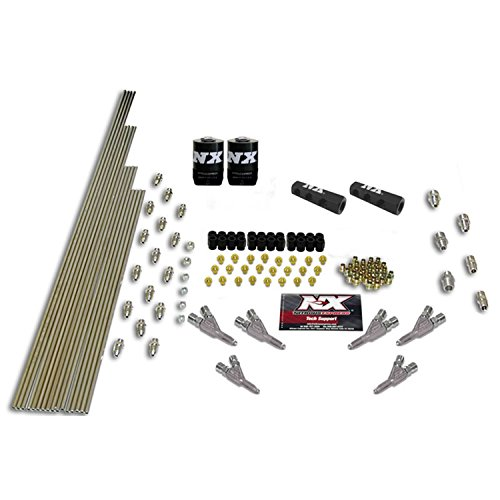 Nitrous Express Install - Nitrous Express 13392 6-Cylinder Stainless Steel Vortech / Straight Through Design Plumbing Kit with 2 Solenoids and 150 HP Jets