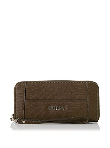 Guess Portafoglio Delaney Slg Large Zip Around Noce