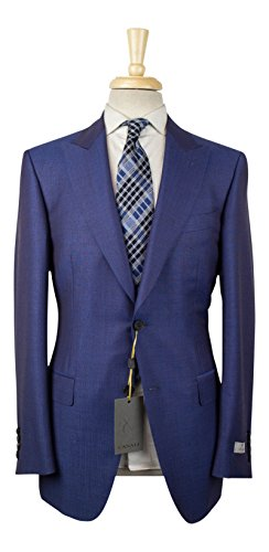 Canali 1934 'Travel' Blue Wool Blend 2 Button Suit for sale  Delivered anywhere in USA