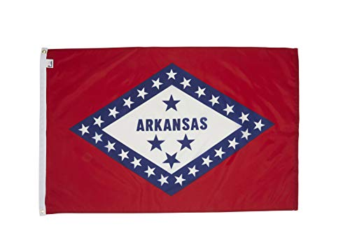 - Allied Flag - 3' x 5' Outdoor Nylon Arkansas State Flag - Made in USA - Vivid Color and Fade Resistant - Reinforced Hem and Brass Grommets