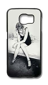 Samsung Galaxy S6 Edge Customized Unique Hard Black Case Vogue Photoshoot Girl Dark Bed Case S6 Edge Cover PC Case