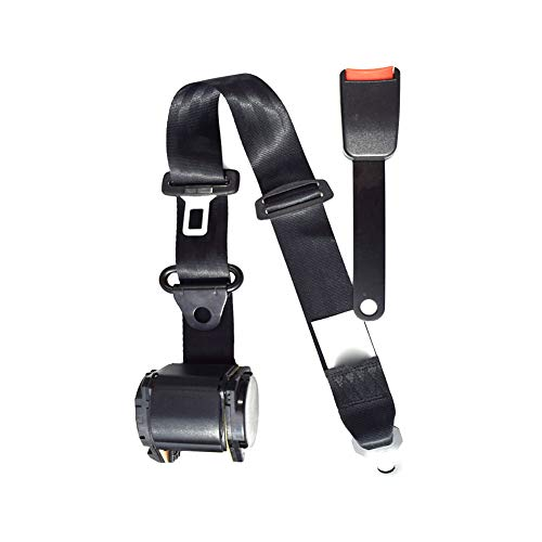 (3 Point Adjustable Seat Safety Belt Harness Kit Seat Lap Seatbelt Universal for Cars and Vehicles)
