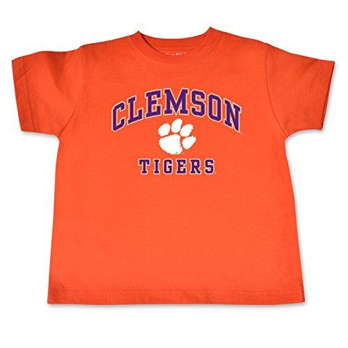 NCAA Clemson Tigers Toddler Short Sleeve Tee, 3 Toddler, Orange (Tigers Apparel Toddler)