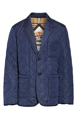 BURBERRY Clifton Diamond Quilted Thermoregulated Jacket in Bright Navy (Down Jacket Burberry)