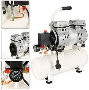 12L Compresor de aire comprimido silencioso sin aceite motor 680W 220V: Amazon.es: Bricolaje y herramientas