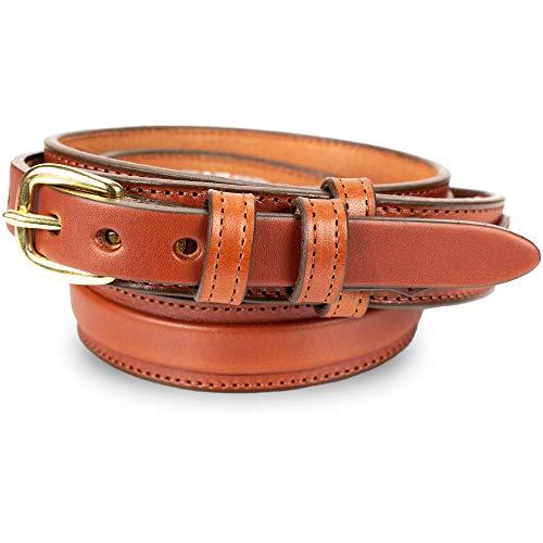 Men's English Bridle Leather Ranger Belt - 1 1/4