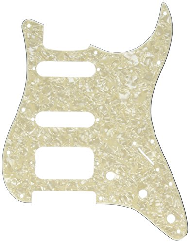 - Fender Lone Star Pickguard, White Moto