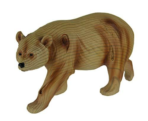 Everspring Carved Wood Look WALKING BEAR Resin ()