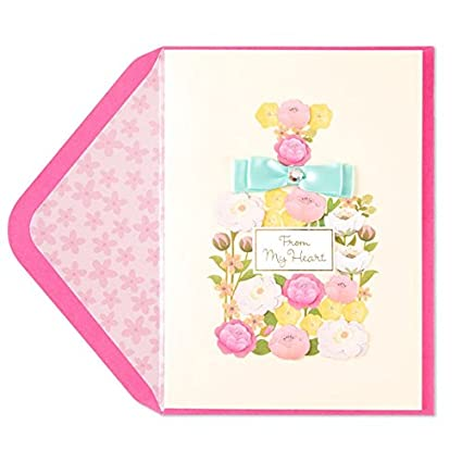 PAPYRUS Taylor Swift Flower Perfume Bottle Birthday Card