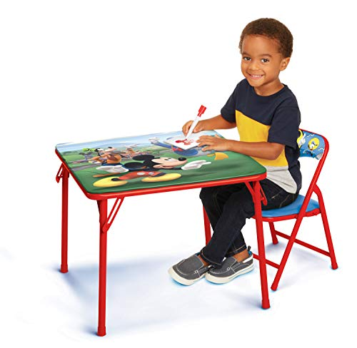Mickey and the Roadster Racers Disney's Jr. Activity Table Set with 1 Chair Activity Table Set