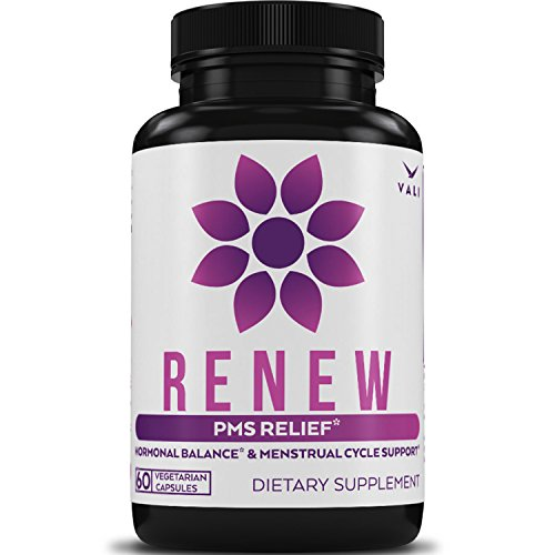 PMS Relief Supplement Premenstrual Cycle Support - 60 Veggie Capsules. Herbal Formula Complex with Vitamins for Menstrual Cramp & Period Pain Relief, Women's Health Natural Hormone Balance (Proprietary Herbal Formula)