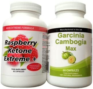 Body Smart Herbals - 60 Raspberry Ketone & 90 Garcinia Cambogia Max Slimming Weight Loss Dieting