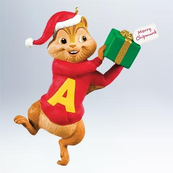 1 X 2011 Hallmark ALVINS CHRISTMAS SURPRISE Alvin and the Chipmunks Ornament - QXI2639 by Hallmark Keepsakes