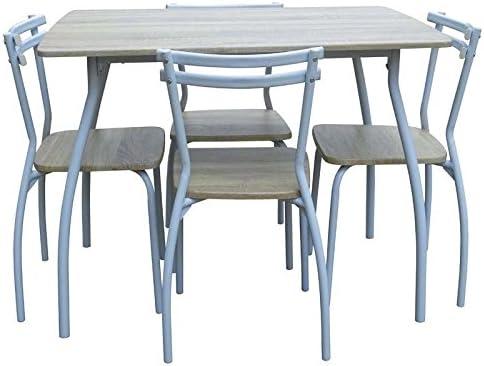 Abitti Conjunto de Mesa + 4 sillas para Comedor o Salon Color ...