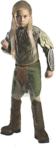 The Hobbit: Desolation of Smaug, Deluxe Legolas Costume, Child Large - Large One Color (Legolas Child)