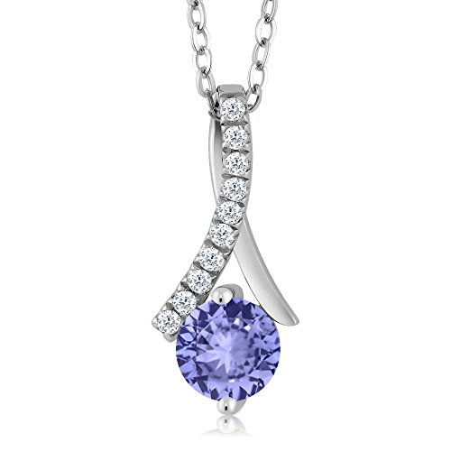 Aaa Tanzanite Jewelry - Sterling Silver Tanzanite Women's Pendant Necklace (1.05 cttw, With 18 Inch Silver Chain)