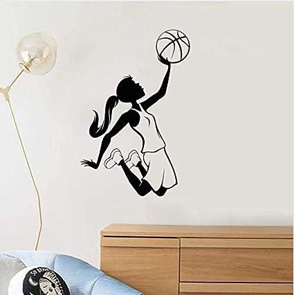 ZHUWall Chica Adolescente Jugador De Baloncesto Deportes ...
