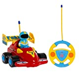 PowerLead Prac RC Car Cartoon Cars Action Figure Cars Music Playing Cars Toy for Toddlers and Babies (C009)