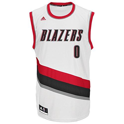 NBA Portland Trail Blazers Damian Lillard #0 Men's Replica Jersey, Large, White (3TF)