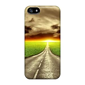 Awesome Road Flip Case With Fashion Design For Iphone 5/5s