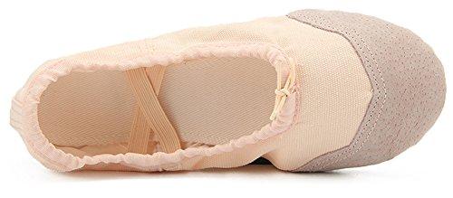 Dreamone Scarpette Danza Classica Scarpe da Ballo Tela Morbido Scarpe Danza Ginnastica Balletto Pantofole Donna Bambina