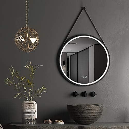 GETPRO 28 Inch Round LED Vanity Mirror Wall Hanging Mirror