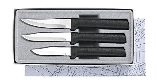 Generic Qyus4160215121882521 3Pc Gift Set N Rada Cutlery Paring Knife Kitchen Kitchen Rada Paring Black Handle Us Dle Us Sharp Steel Blade Black Handle Us