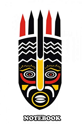 """Notebook: Is A Ceremonial Mask Of The Ogoni People In Niger Elu , Journal for Writing, College Ruled Size 6"""" x 9"""", 110 Pages"""