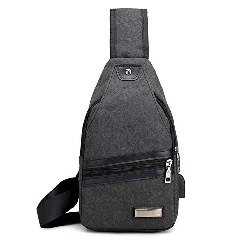 USB Charging Chest Bags Men Anti-Theft Crossover Shoulder Bag Multifunction Waterproof Sling Messager Back Pack 2018 ()