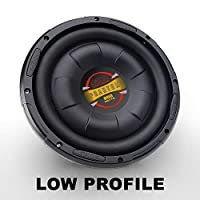 BOSS Audio D10F 800 vatios, 10 pulg., Bobina de voz de 4 ohmios, subwoofer para autos de montaje bajo